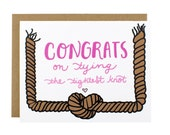 Wedding Congrats Card - Bridal Shower Card - Tying The Knot