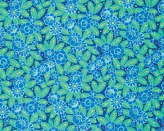 Amy Butler Fabric - 1/2 Metre Camellia in Sky/ Violette ships from Australia