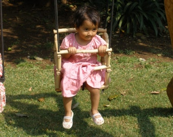 Handmade wooden baby swing or toddler swing chair / Swing for babies /  Outdoor or indoor baby swing / Customizable baby swing