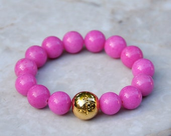 Milly Pink Beaded Bracelet by BeadRustic FREE SHIPPING