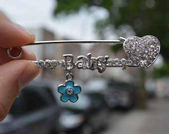 Baby shower gift Safety pin brooch