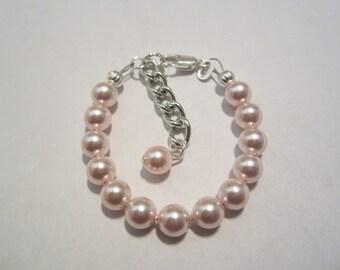 Sterling silver roseline swarovski newborn baby bracelet