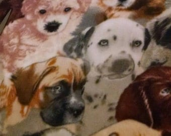 Dogs  Fleece Tie Blanket