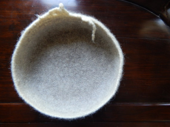 """Momoish Ombre Wool Felted Bowl (9"""" x 4.5""""), Wool Container,Wool Basket , Newborn Baby Basket for Photo Prop, momoish made"""