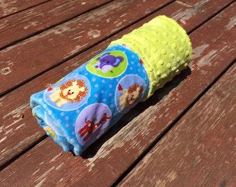 Elephant/Giraffe/Lion/Zebra Minky Blanket/Baby Blanket