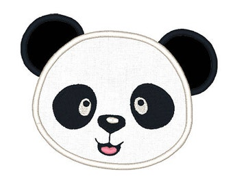Panda Applique Embroidery Design- Instant Download