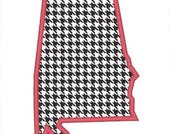 Alabama Outline Applique Embroidery Design - Instant Download