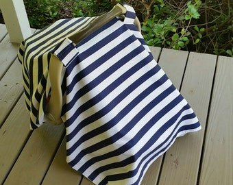 Navy Stripes Car Seat Cover // Modern Car Seat Cover // Car Seat Tent // Car Seat Canopy // Stripe Baby Car Seat Cover /Pink Stripes or Navy