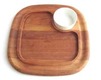 Dansk IHQ Teak Cutting Board Platter Vintage