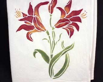 Amaryllis Tea Towel