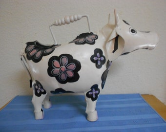 Great Hand Made / Hand Painted Cow For Watering Out and In Side House Plants
