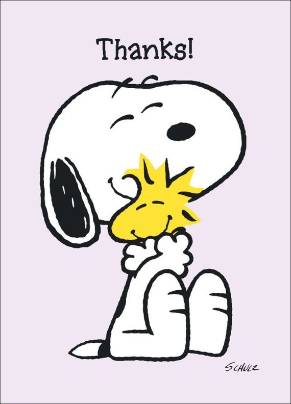 Snoopy and woodstock collectible peanuts thanks - Charlie brown bilder ...