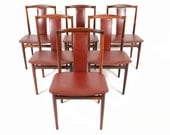 Set of Six Danish Mid Century Modern Yoke Back Rosewood Dining Chairs