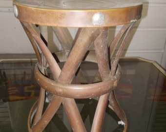 Palm beach Garden Brass X shape stool/side table Free Shipping