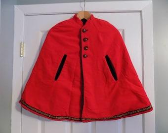 Vintage Children's or Petite Woman's Little Red Riding Cape