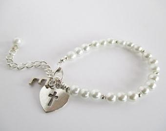 Personalized Christening Bracelet, Baptism Bracelet, Christening Gift, Baby Bracelets, Christening Present, Christening Keepsake, Baby Gift