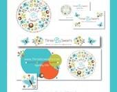 Shop Design - Internet Business Branding - Includes OOAK Small Business Logo Design, Business Card, Etsy Banner, Web Banner & Avatar Designs