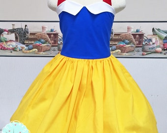 Snow White Inspired Dress, Snow White Costume Dress, Coplay, Pretend, Dress-up, Custom Children Sizes, Disney Vacation, Princess