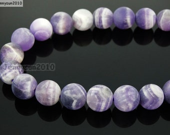 Natural Matte Amethyst Frosted Gemstones 4mm 6mm 8mm 10mm 12mm Round Loose Spacer Beads 15'' Strand Jewelry Design