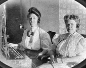 Telephone Switchboard Operators Antique Photo Identified Women