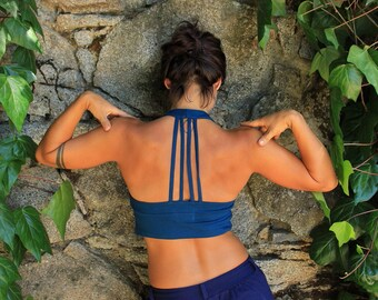 Strappy Crop Top-clothing women-yoga tank-cotton tops-wholesale clothing-comfy tops-summer clothes-gym tank-gym clothes-festy clothes-aurora
