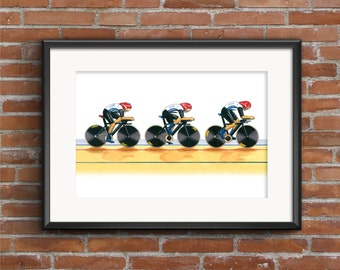 Team GB Women's Cycling Pursuit Team, London 2012 Olympics POSTER PRINT A1 size