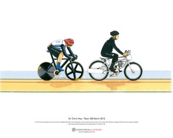 Sir Chris Hoy, Keirin, London 2012 Olympics ART POSTER A3 size