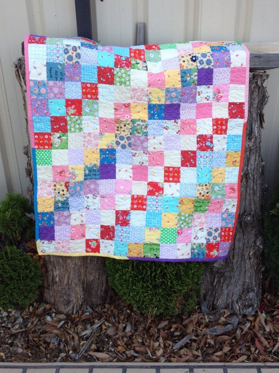 Girly Girl Handmade Baby Quilt