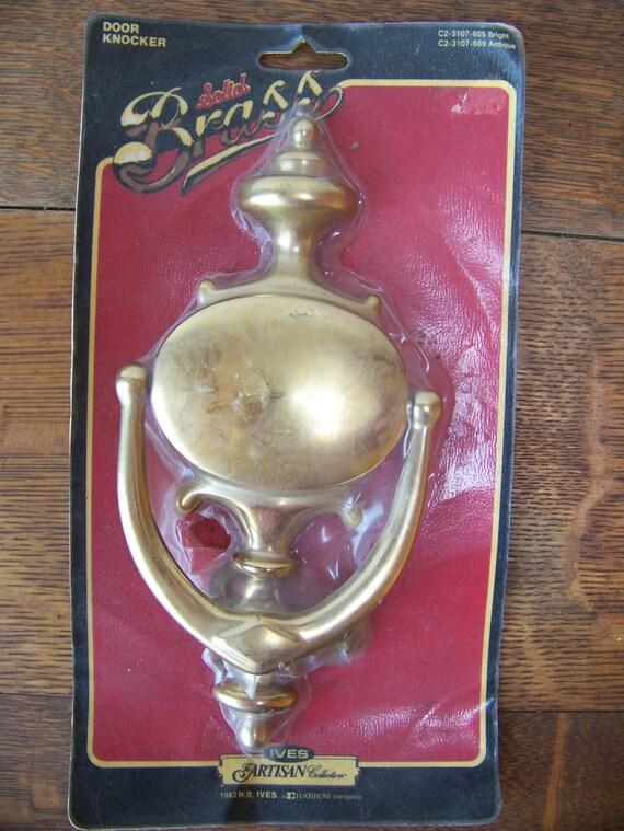 Vintage Solid Brass Door Knocker In Original Package Vintage