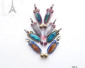 TEAL BEIGE soutache earrings - Soutache earrings, orecchini soutache, pendientes soutache, boucles d'oreilles soutache, elegant earrings
