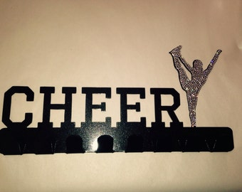 Rhinestoned Cheer Medal Holder