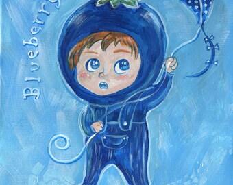 Blueberry Boy Print