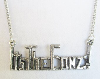 """Fonzie """"It's the Fonz"""" Necklace TV Character Happy Days TV Show 1970's 1980's Collectible Henry Winkler"""