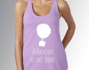Up - Adventure is Out There * Light Purple * Disney Tank Top * Jersey Top * Disney Running Shirt * Run  Disney * Racerback * Womens