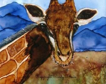 Digital art, digital download, giraffe, alcohol inks