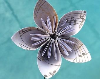 Origami flowers with stems origami tutorial lets make it pastel origami paper flowers with stems kusudama flower mightylinksfo