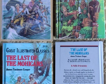 Vintage Books - Great Illustrated Classics, The Swiss Family Robinson, Robin Hood, The Last of the Mohicans - Baronet Books 1990/1992