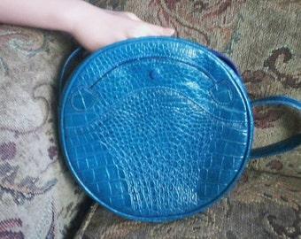 Blue Leather Empress Bag