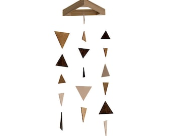 Wood Triangle Mobile - Wooden Mobile