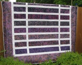 Reserved Listing for Heidi - King Quilt - A Passion for Purple Batik