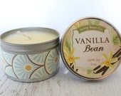 Vanilla Bean Soy Tin Candle// Fragrance Candles// Gift Ideals