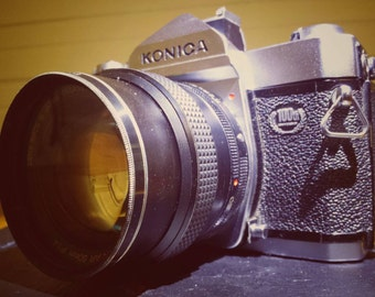 Vintage Limited Edition Konica T3 35mm SLR Camera. #1090 of 1500 with f/1.4 50mm lens.
