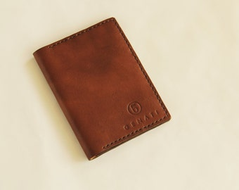 handmade leather passport's and credic card's case