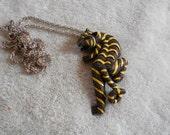 Vintage Necklace-Tiger Pendant Necklace -N1171