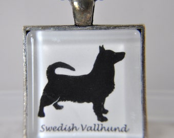 Swedish Vallhund Dog - Dog Breed Silhouette - Dog Silhouette Necklace - Dog Breed Necklace - Dog Breed Jewelry -Dog Breed Pendant
