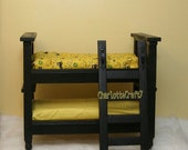 Elegant Newborn Bunk Bed and Nightstand Photography Prop American Doll Photo Nightstand