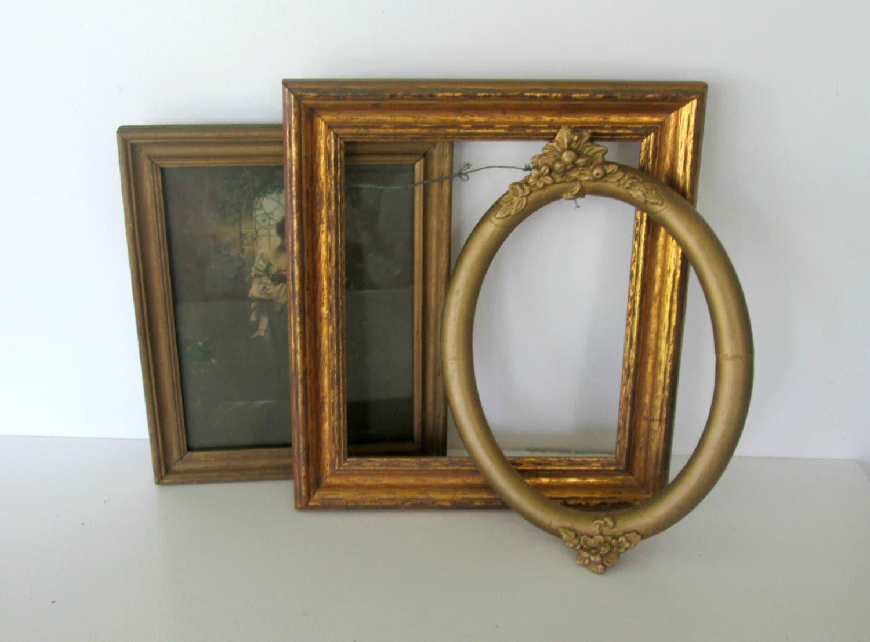 Vintage Frame Collection Wood Gold Gilt Decorative Frame