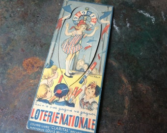 "Antique Paris ~ French Bookmark ~ ""Loterie Nationale"" ~ French Loto"