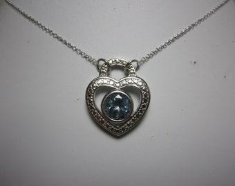 Brazilian Green River Mystic Topaz Heart Necklace