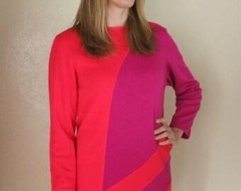 Color Blocked Retro Dress